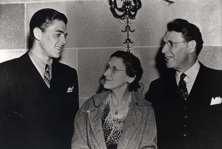 1937-1938 Ronald Reagan with Nelle Reagan and Jack Reagan in California